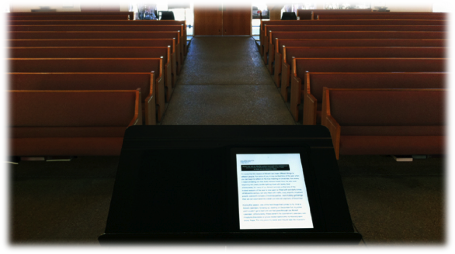 Using the iPad in Preaching: Benefits & Drawbacks